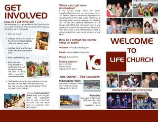 lifechange life church welcome lifekids brochures